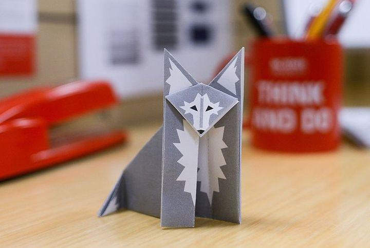 Простой оригами-волк