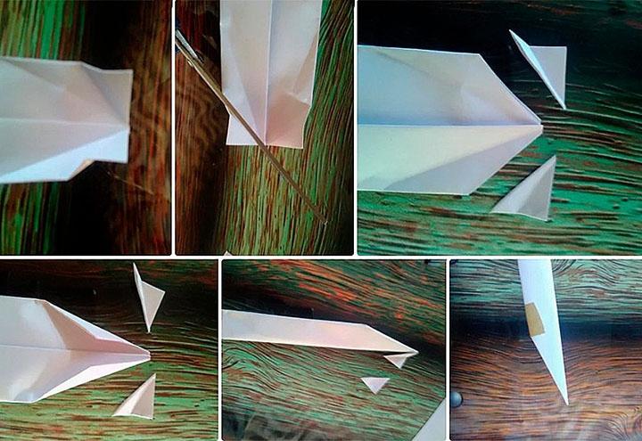 Изготовление оригами-когтей