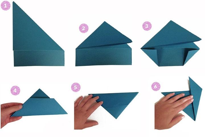 Схема оригами-когтей
