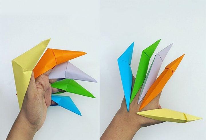 Бумажные оригами-когти