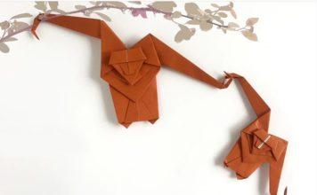 Обезьянка-оригами