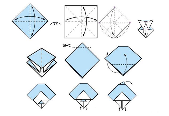 Пошаговая схема оригами-игрушки