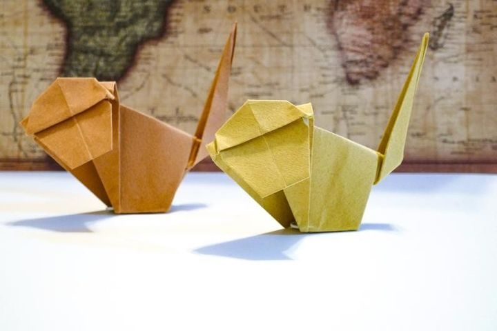 Оригами-макака