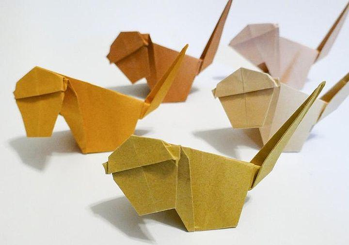 Оригами-обезьяны