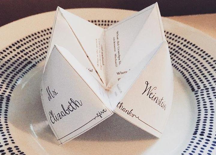 Оригами-гадалка для вечеринок