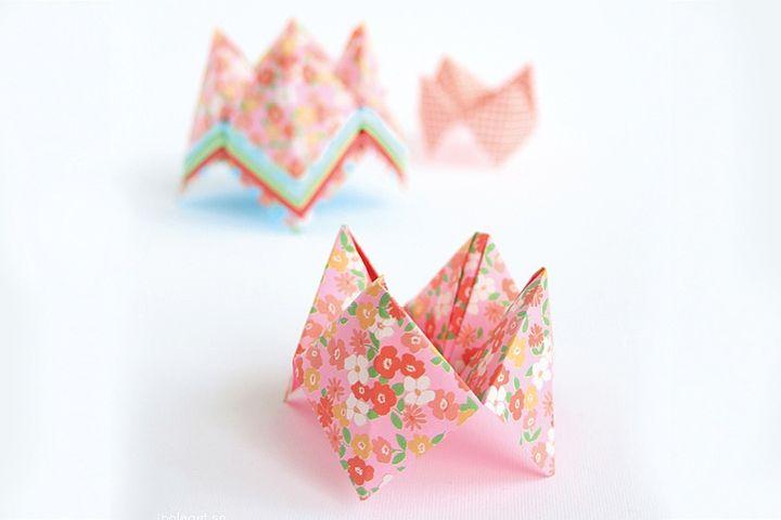Оригами-гадалка из крафта или ткани