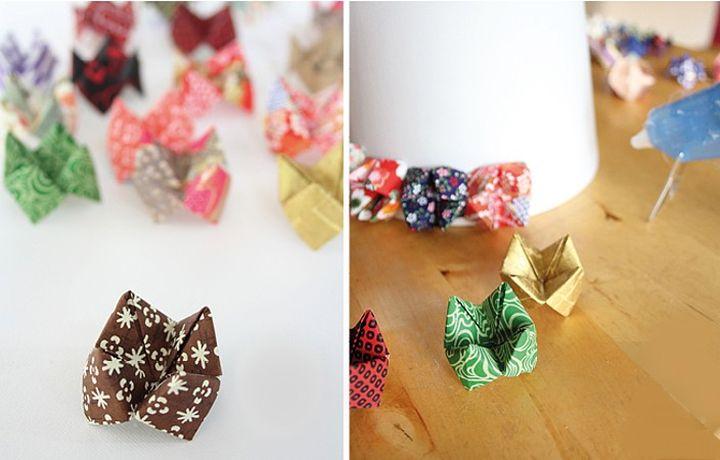 Оригами-гадалки из крафта или ткани