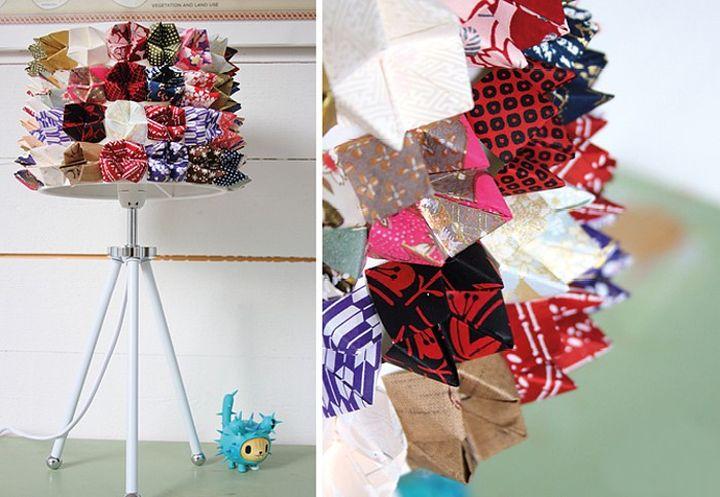 Светильник из оригами-гадалок