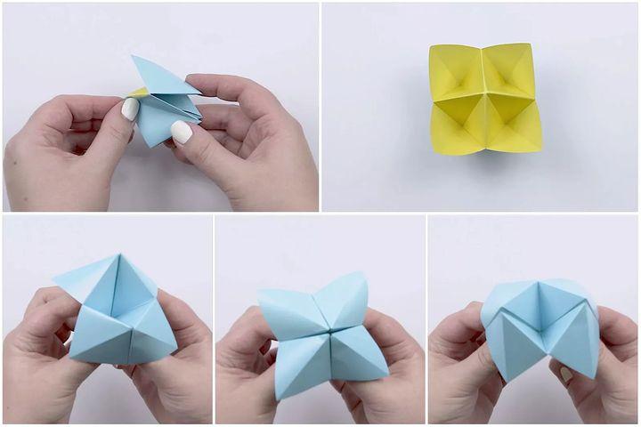 Схема изготовления оригами-гадалки