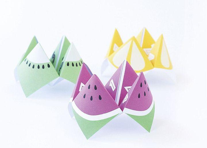 Стильные оригами-гадалки