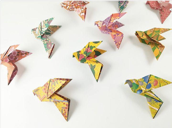 Простая схема оригами-голубя