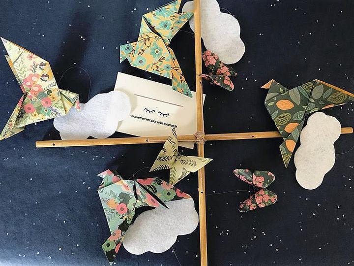 Бумажные голуби-оригами