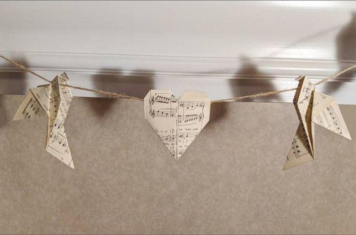 Декор из бумажных оригами