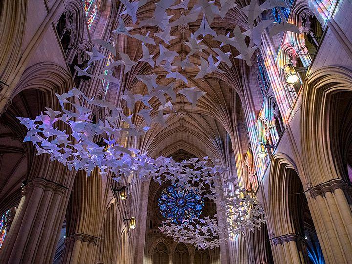 Голубь мира из бумаги в технике оригами