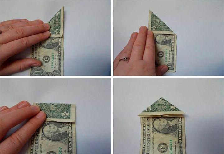 Схема оригами-дерево из денег