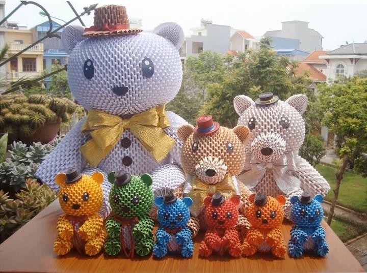 Мишка Тедди из бумаги