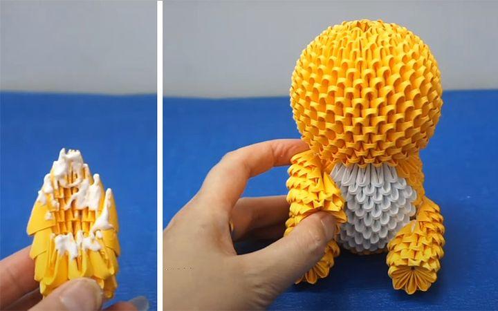 Схема сборки модульного оригами-Тедди