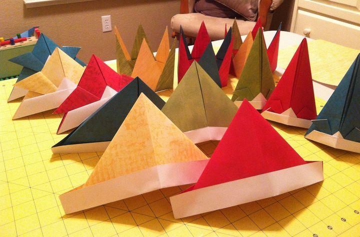 Оригами-шапка из бумаги