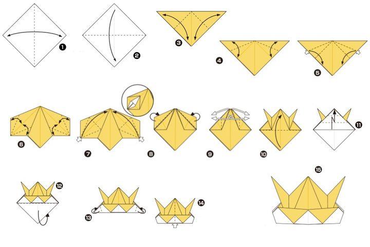 Вариант изготовления оригами-шлема