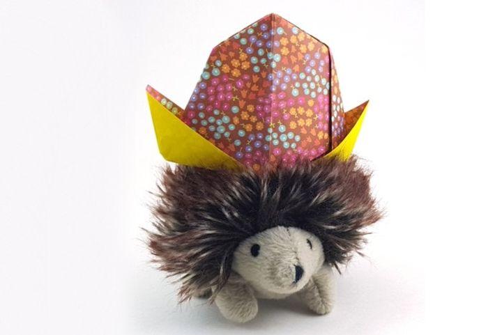 Ковбойская оригами-шапка