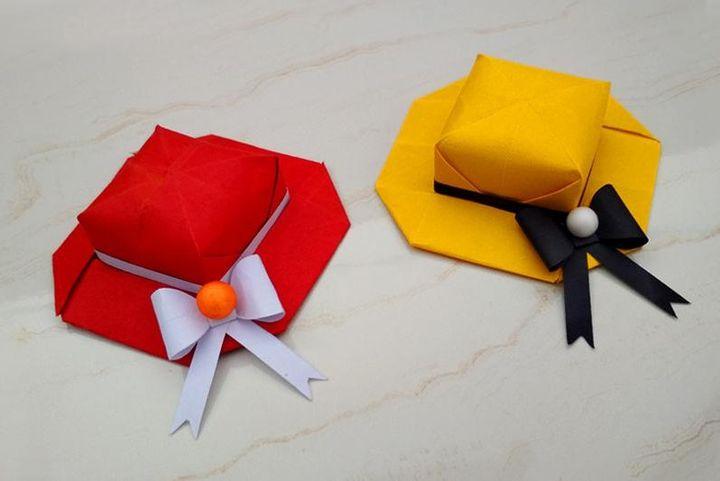 Оригами-шапочка для аристократок