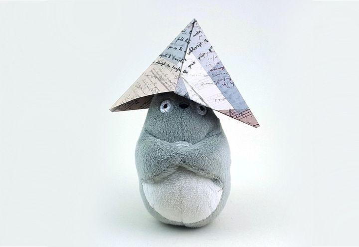Шапка-оригами из газеты