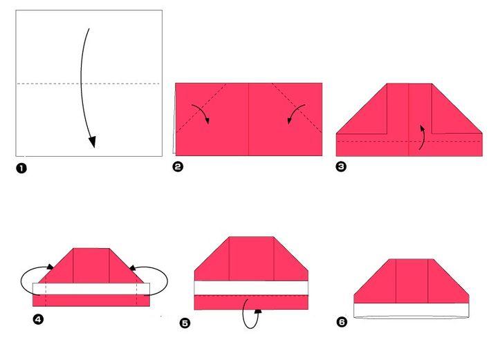 Инструкция изготовления шапки-оригами