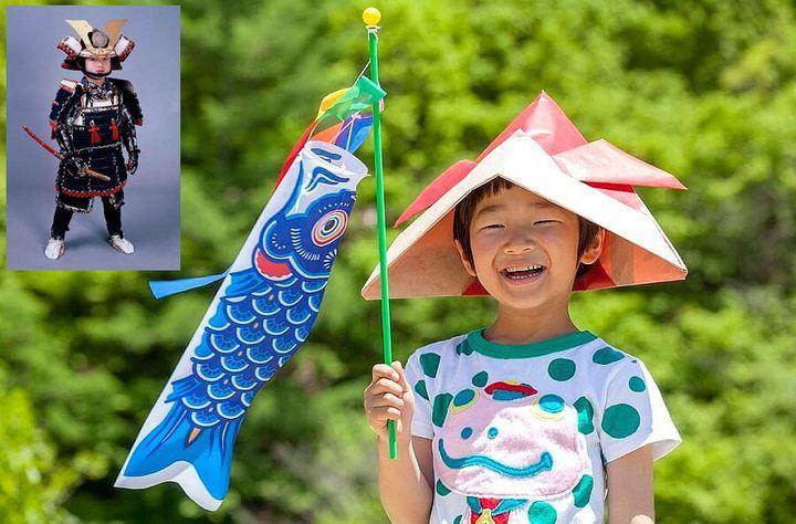 Оригами-шлем самурая