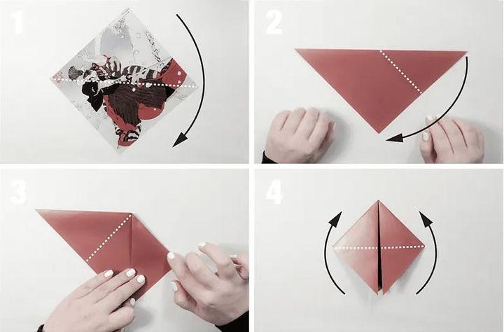 Схема изготовления оригами-шлема
