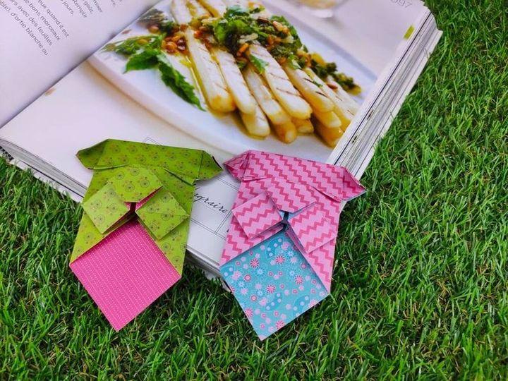 Оригами-бульдог