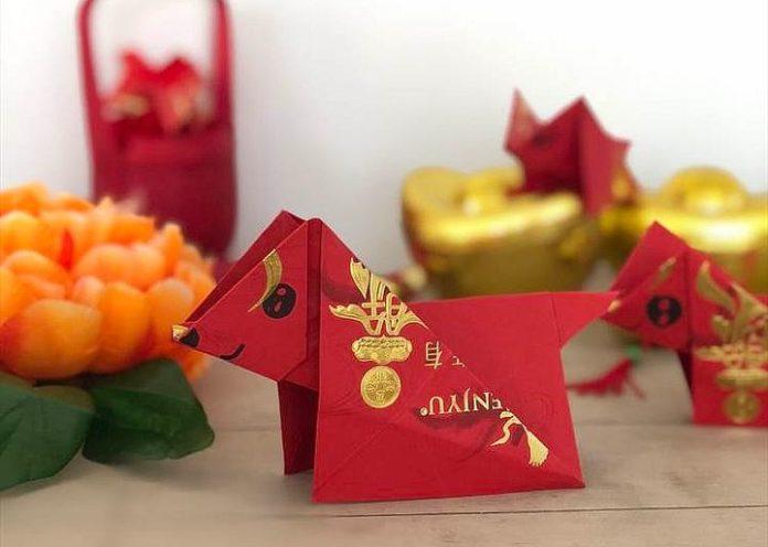 Оригами-собачка