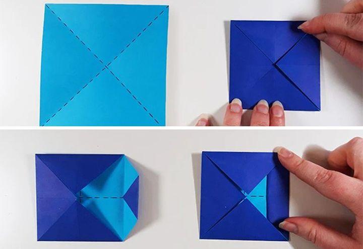 Изготовление оригами-собаки