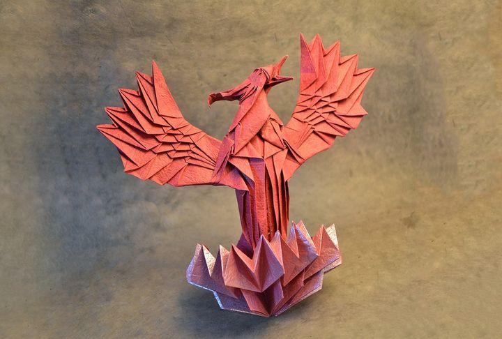 Бумажный феникс-оригами