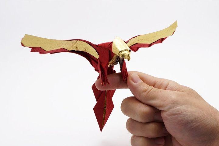 Феникс от мастера оригами