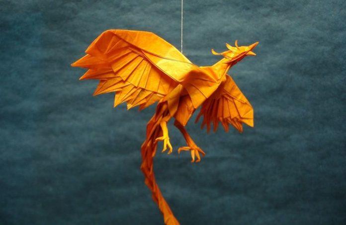 Феникс в технике оригами