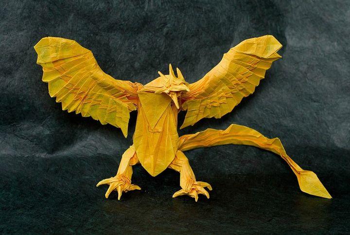 Оригинальный феникс-оригами
