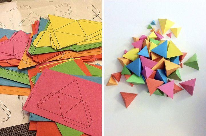 Цветные тетраэдры