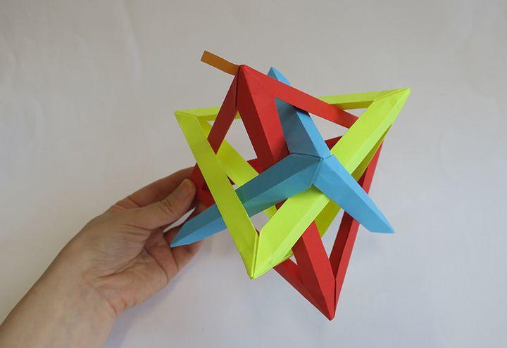 Схема изготовления тетраэдра-многогранника