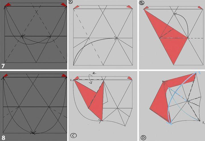 Этап изготовления бумажного тетраэдра