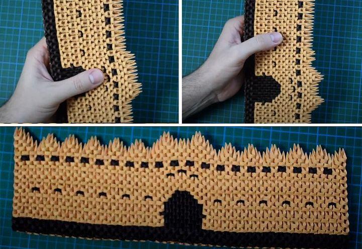 Стена для замка-оригами
