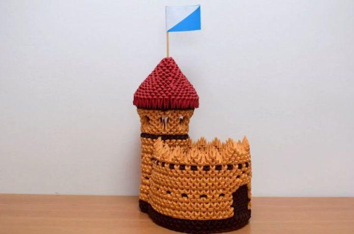 Модульный замок-оригами