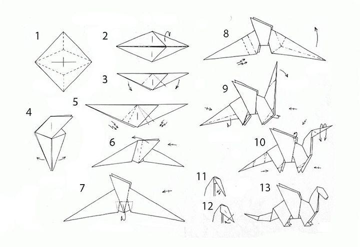 Инструкция по сборке оригами-дракона