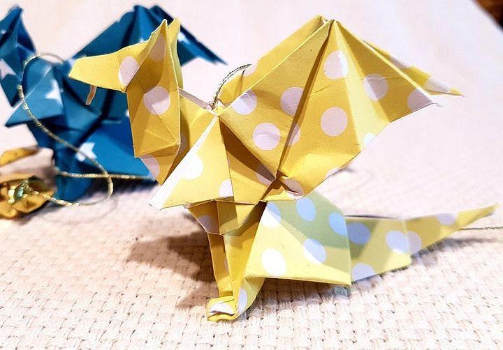 Цветные драконы из бумаги