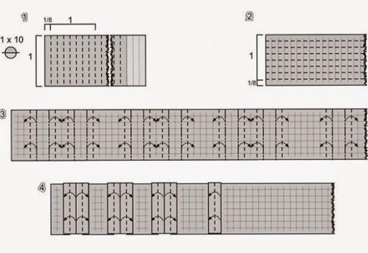 Схема сборки оригами-паровоза