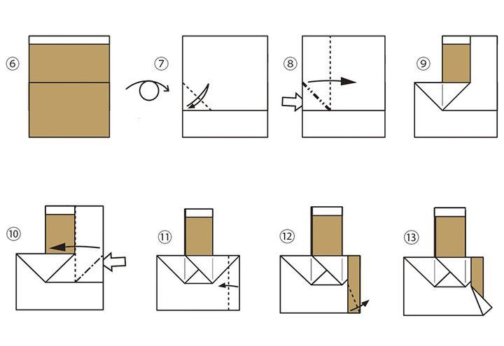 Сборка оригами-паровозика