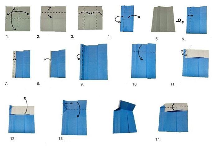 Сборка оригами-паровоза