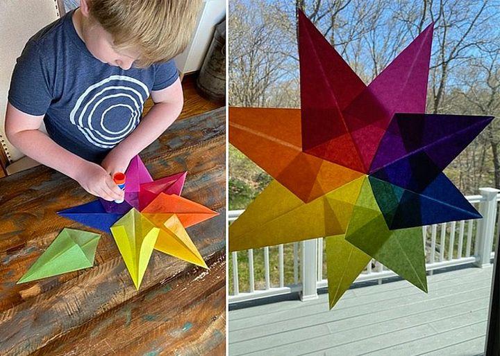 Сборка оригами-звезды
