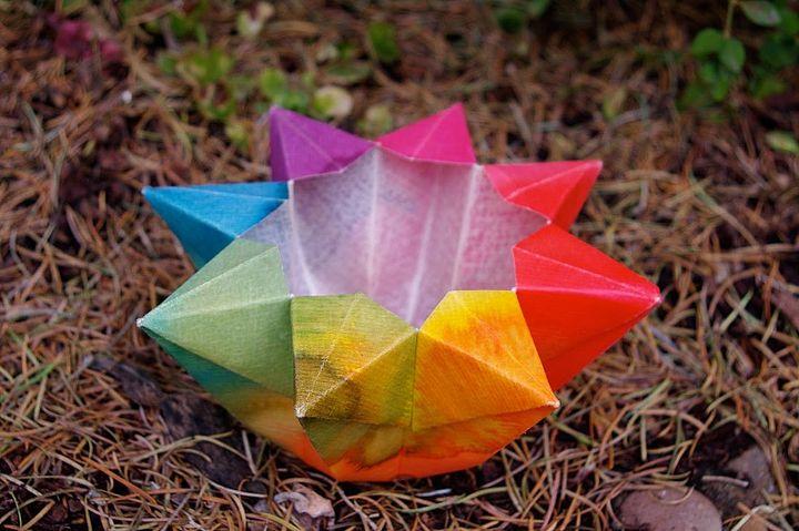 Оригами-светильник