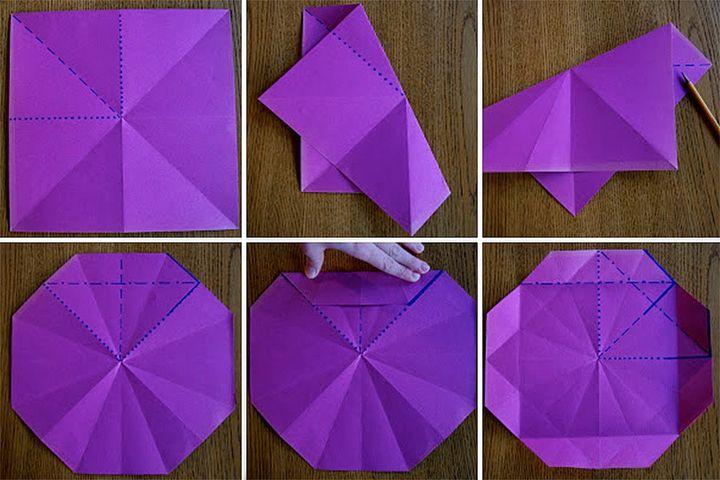 Схема сборки светильника-оригами