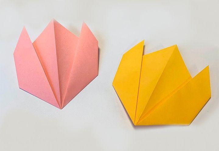 Схема сборки оригами-тюльпана
